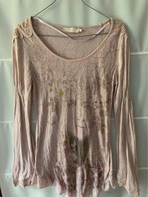 Cream Camiseta estampada color rosa dorado-marrón grisáceo Algodón