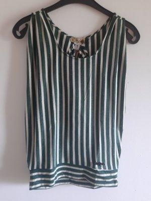 Khujo T-shirt w kolorze białej wełny-zielony