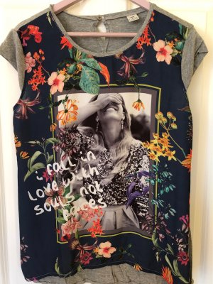 17&co Shirt met print donkerblauw