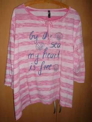 maxi blue. Stripe Shirt white-neon pink