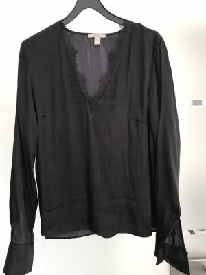 H&M T-shirt col en V noir