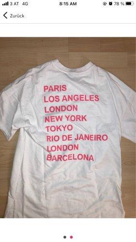 Tally Weijl Oversized Shirt natural white-neon pink