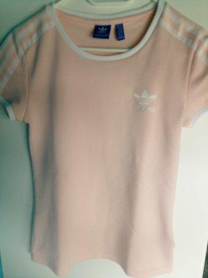 Adidas Camisa deportiva albaricoque-blanco Poliéster