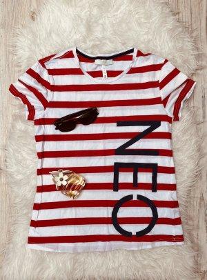 Adidas NEO Koszulka w paski biały-czerwony