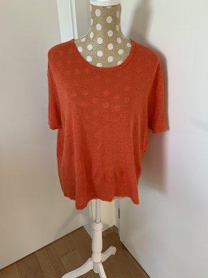 American Vintage Koszulka oversize pomarańczowy-łosowiowy