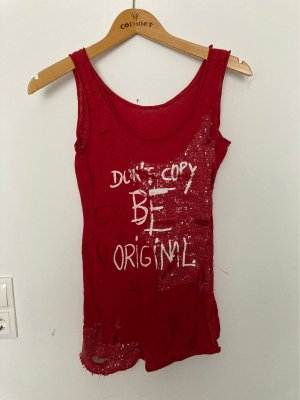 Cut Out Top dark red