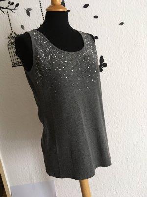 C.A.N.D.A Collection at C & A Prążkowana koszulka szary-srebrny