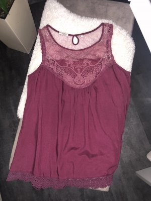 America Today Short Sleeved Blouse bordeaux