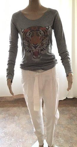 Amor & Psyche Top à manches longues gris coton
