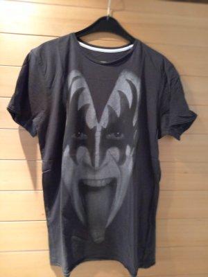 Amplified Shirt met print grijs Katoen
