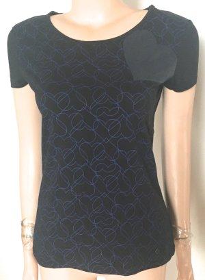 Shirt Armani Gr. 38 schwarz royalblaue Herzen