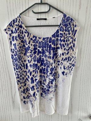 Shirt aus Leinen mit Muster von ESPRIT
