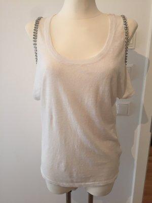 Shirt aus Leinen und Seide von Patrizia Pepe Gr. 34/36
