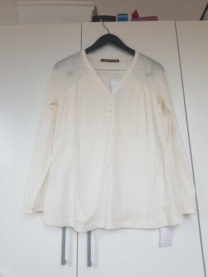 Comptoir des Cotonniers V-Neck Shirt white-natural white cotton