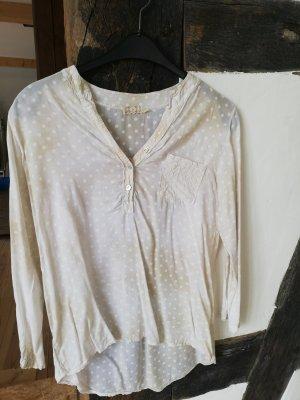 Made in Italy Camicia a tunica beige chiaro-beige