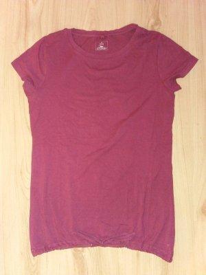 Shirt Basic Burgunderrot Pink 38 + große S