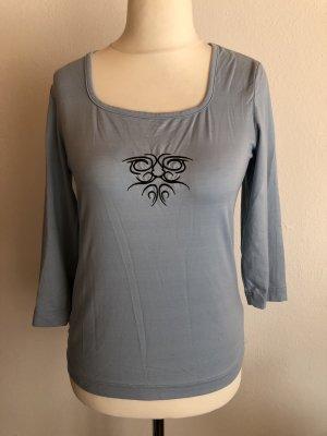 Shirt Basic Oberteil 3/4 Ärmel hellblau Gr. M