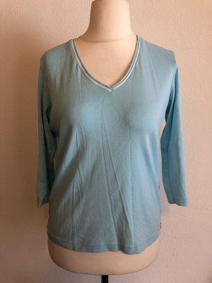 Shirt Basic Oberteil V-Neck hellblau Gr. XXL