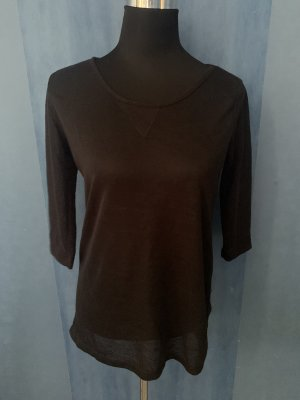 Shirt Basic Rundhals 3/4 Ärmel schwarz