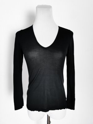 Shirt basic S schwarz transparent