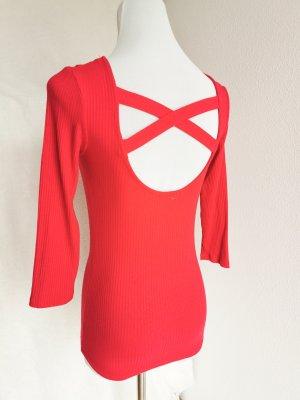Amisu Knitted Jumper red-magenta