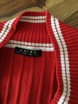 Amisu Gehaakt shirt rood-wit