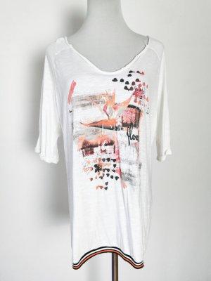 Shirt Baumwolle weiß locker