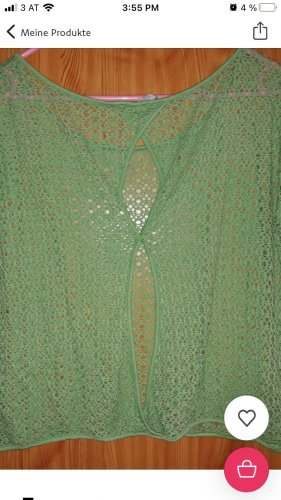 17&co Crochet Shirt lime-green