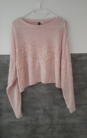 H&M Koszula z odcięciem pod biustem różany