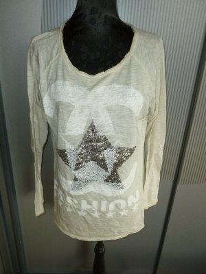 Shirt beige Pailletten Made in Italy