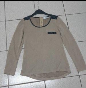 Shirt beige schwarz Gr.S von Moodys