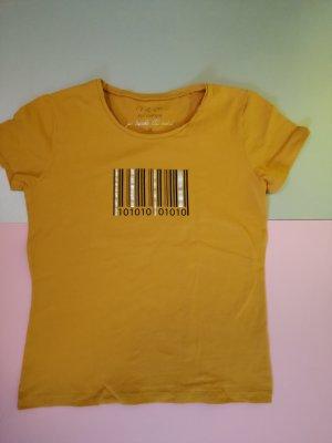 17&co T-shirt imprimé jaune-orange doré coton