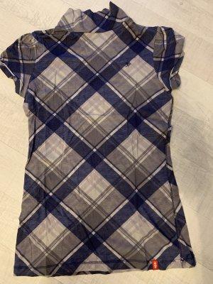 edc Koszulka z golfem szary-niebieski