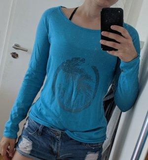 Shirt blau lange Ärmel