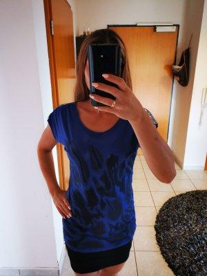 Shirt blau mit Print