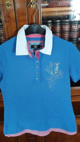 Shirt blau mit Stickerei Gr.42