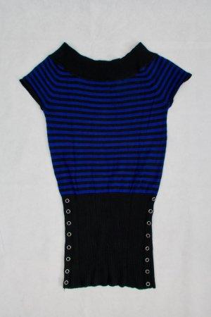 Shirt blau-schwarz mit Nietendetails
