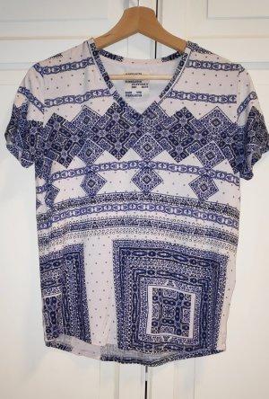 Baum und Pferdgarten T-shirt blanc-bleu viscose