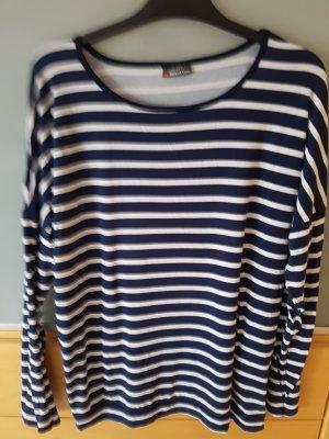 Street One Koszulka w paski w kolorze białej wełny-ciemnoniebieski