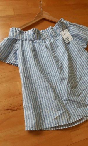 Shirt blau weiß gestreift von H&M Gr.XS Neu