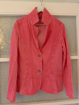 American Vintage Blazer de tela de sudadera rosa-rojo frambuesa