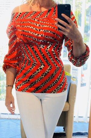 Blumarine Koszulka z długim rękawem camel-czerwony