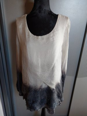 Shirt Bluse beige grau Made in Italy