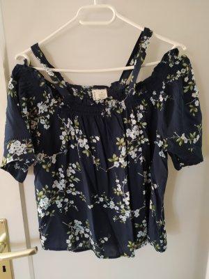Shirt , Bluse blau geblümt gr. m/ 38