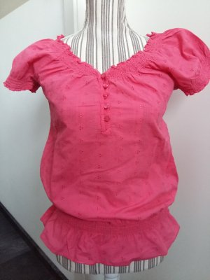 Shirt Bluse mit Baumwollstickerei