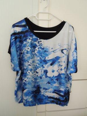 Shirt-Bluse mit extravagantem Druck Gr. 44