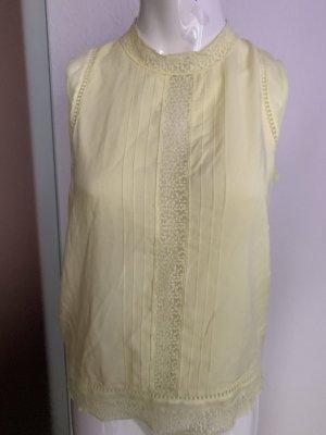 Shirt Bluse mit Spitze Gr 36 38 S von Promod