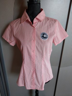 Blusa a cuadros blanco-rosa