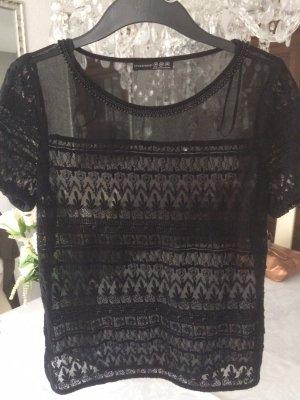 Shirt-Bluse / schwarz / Gr. 36 S