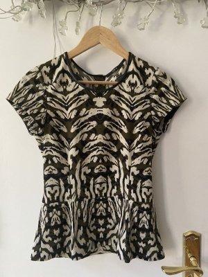 Shirt Bluse SET Gr.34 Tarnmuster Animal Print Peplum